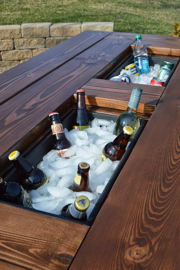 Diy Outdoor Table With Cooler. Diy Cooler Picnic Table Diy Outdoor With I