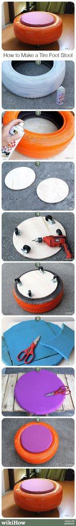 Tire Foot Stool