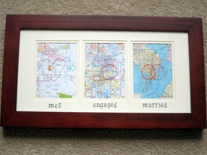 31 thoughtful homemade gifts for your girlfriend diy map gift okay so you may not be ready to give your girlfriend this gift just yet however maybe you could personalize it to where you are currently solutioingenieria Choice Image