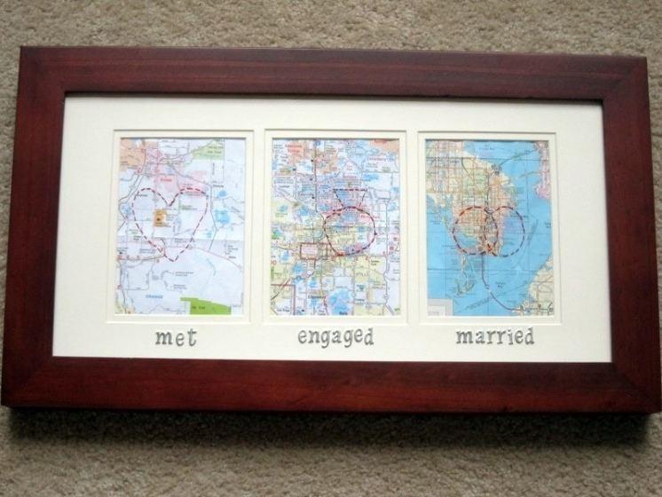 DIY Map Gift