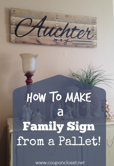 Family Pallet Sign