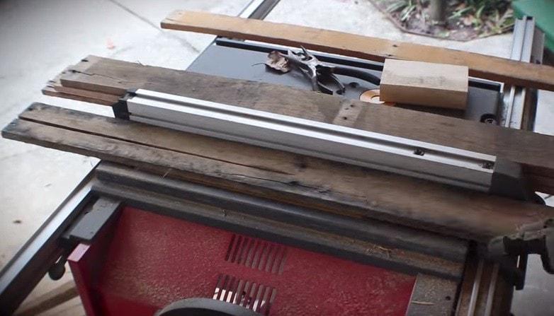 Cut top boards in half