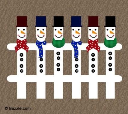 Snowman Fence DIY