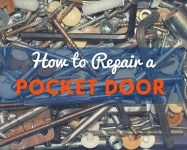 how to fix an uneven pocket door