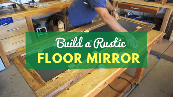 diy barn door floor mirror project