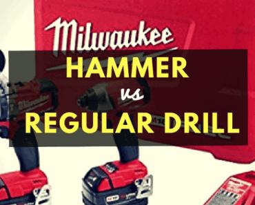 Hammer drill vs regular drill