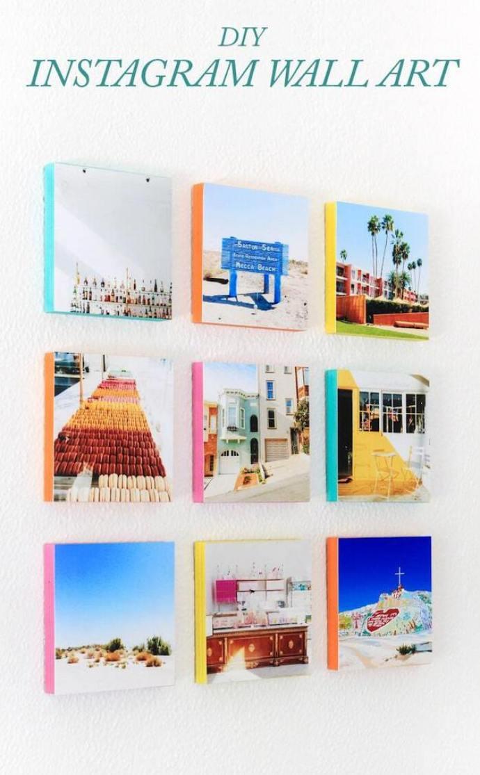 Instagram wall art - DIY project