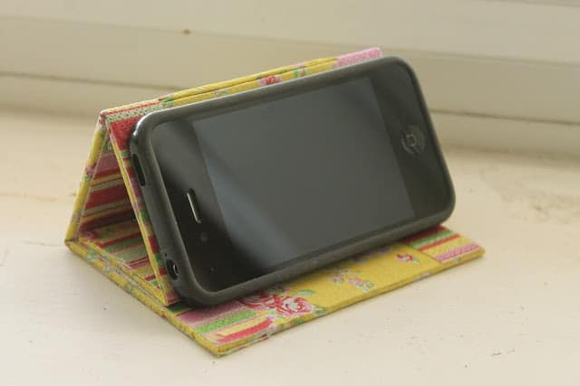 no sew iPhone stand