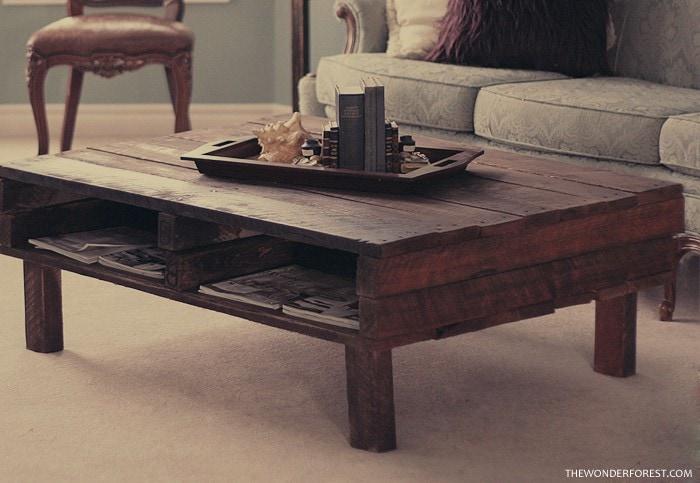 Rustic Pallet Coffee Table DIY