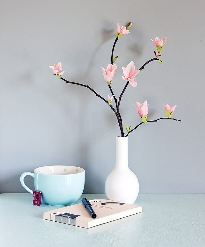 Paper Magnolias on Branch
