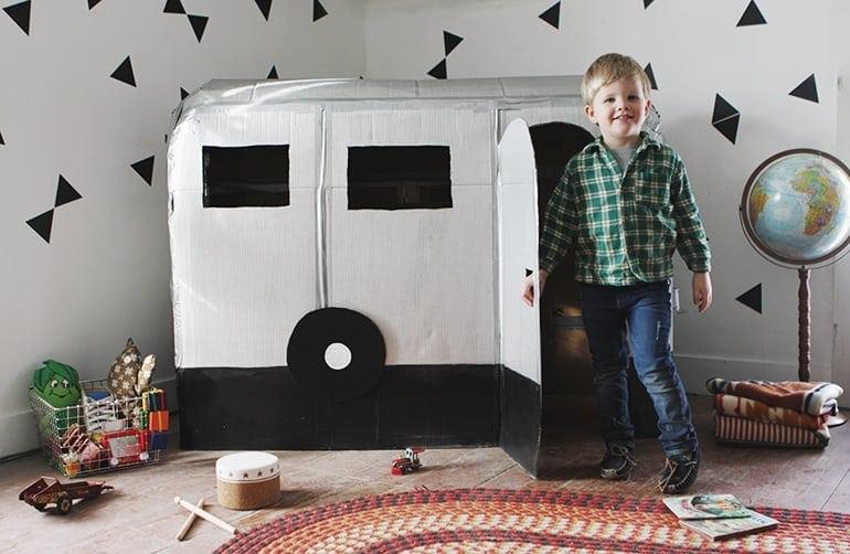 DIY Cardboard Camper