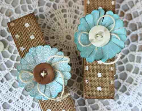 Handmade Burlap Clothespins