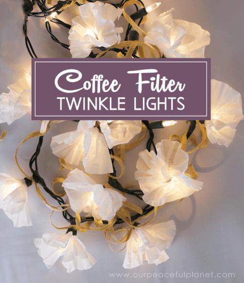 Coffee Filter String Lights