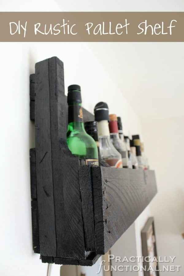 Rustic Wine Rack Shelf