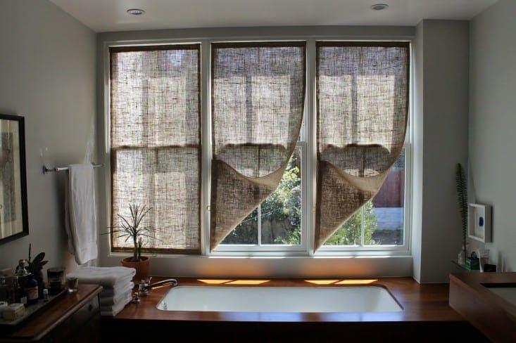 Burlap Window Shades for $20