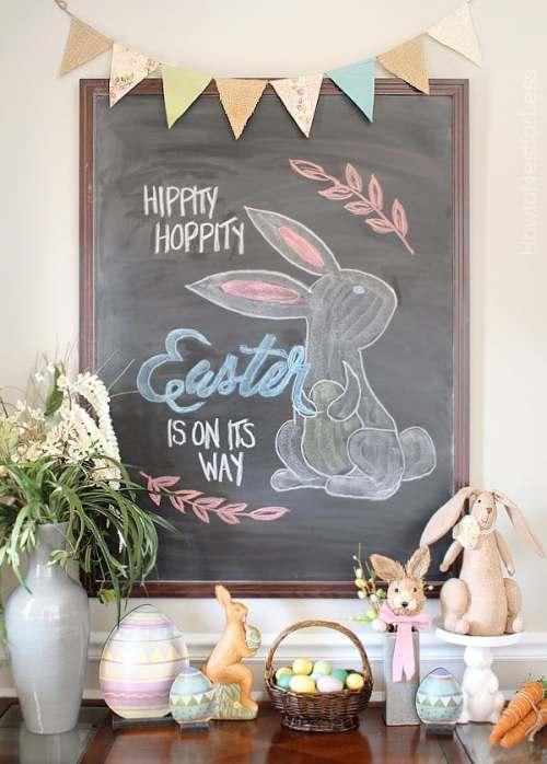 Simple DIY Easter Chalkboard