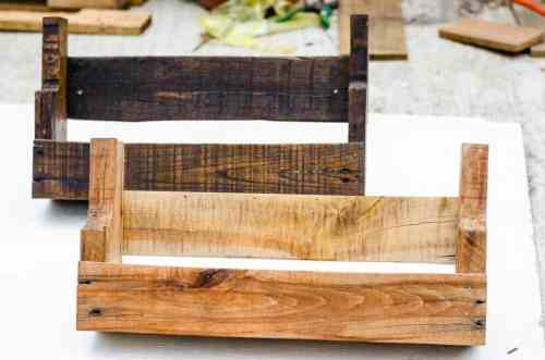 Rustic Pallet Shelves