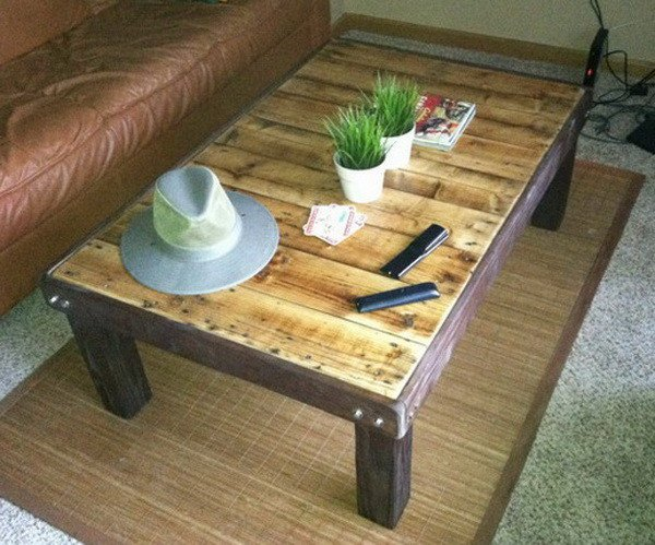 Easy and Affordable Pallet Coffee Table