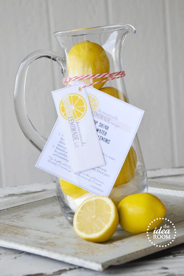 Lemonade DIY Gift for Welcoming Neighbor