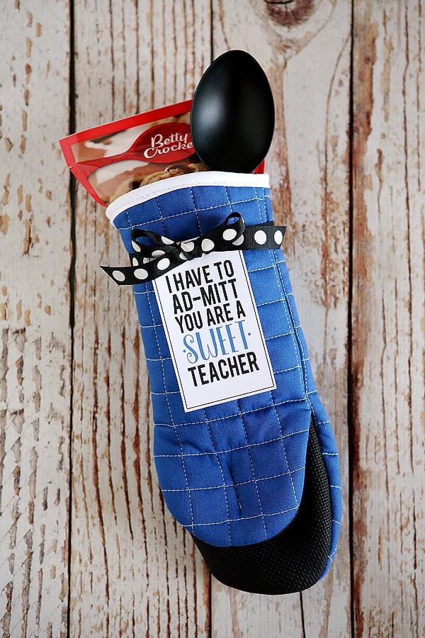 Oven Mitt Teacher's Gift