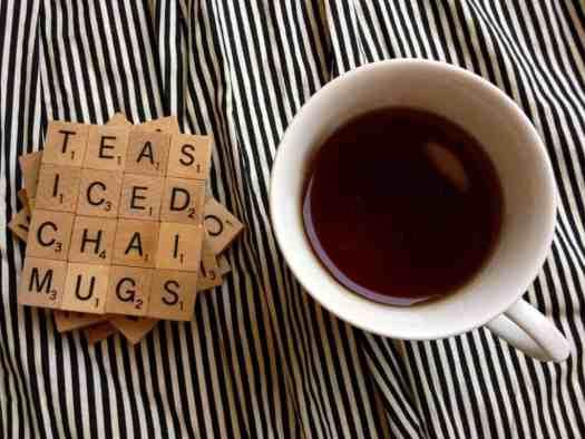 DIY Fun Scrabble Coaster Gift