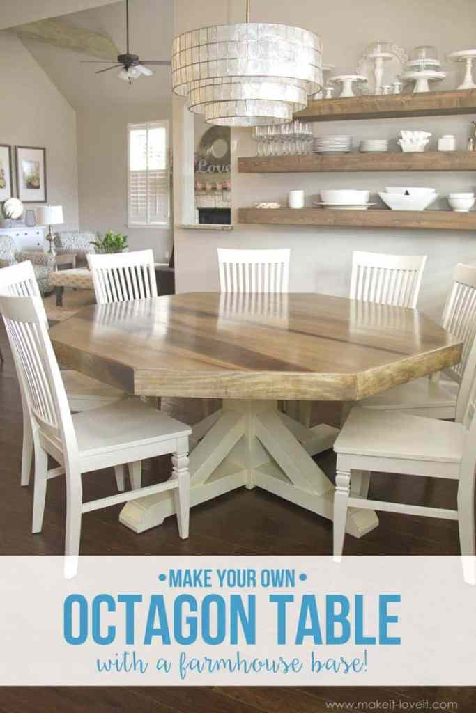 Make Your Own Unique Octagon Shaped Dining Room Table