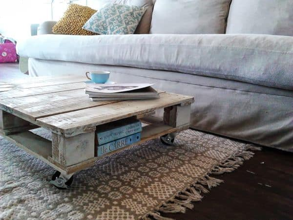 Transformed Wood Pallet Coffee Table