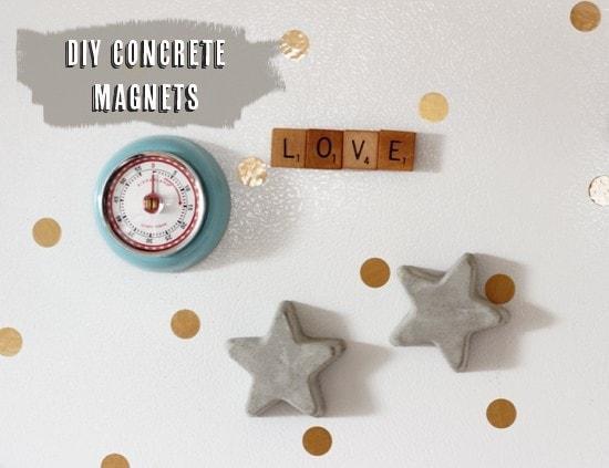 Simple Concrete Magnets DIY