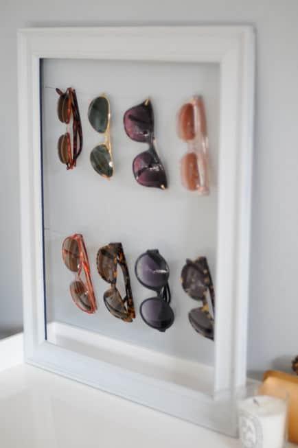 DIY Sunglass Organizer