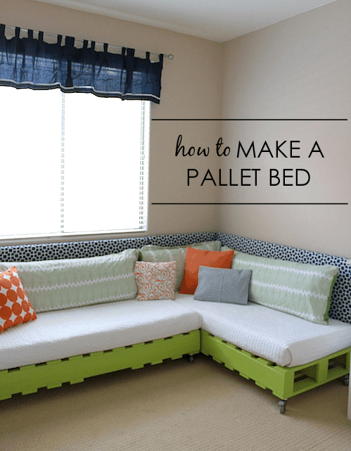 Kid's Pallet Bed on Wheels
