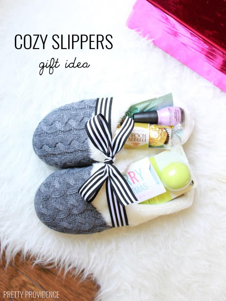 Cozy Slippers With Goodies Inside Gift