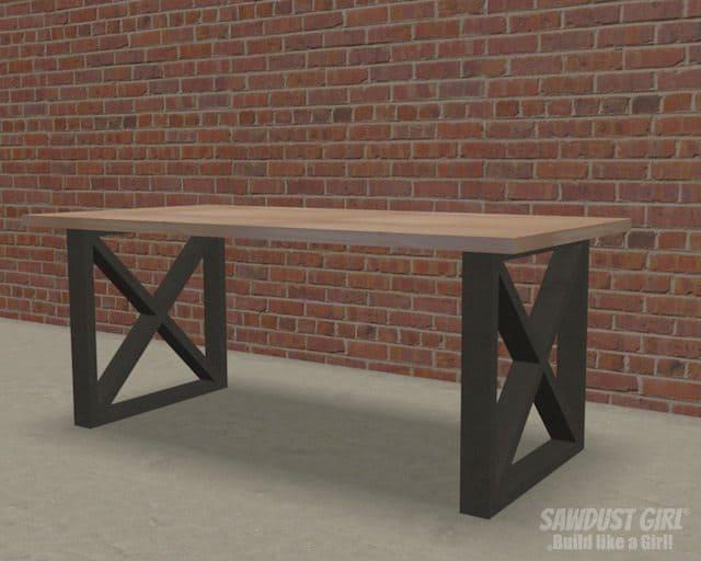 X-Leg Table DIY