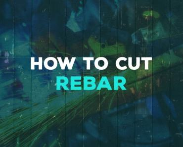 How to cut rebar