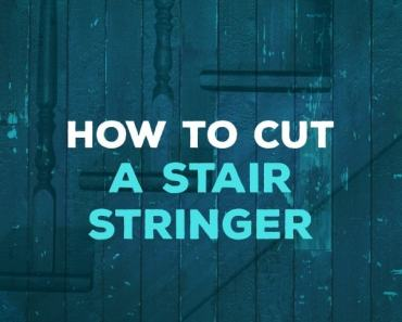 how to cut a stair stringer
