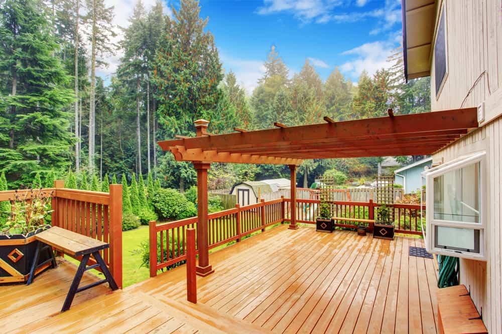 half covered deck