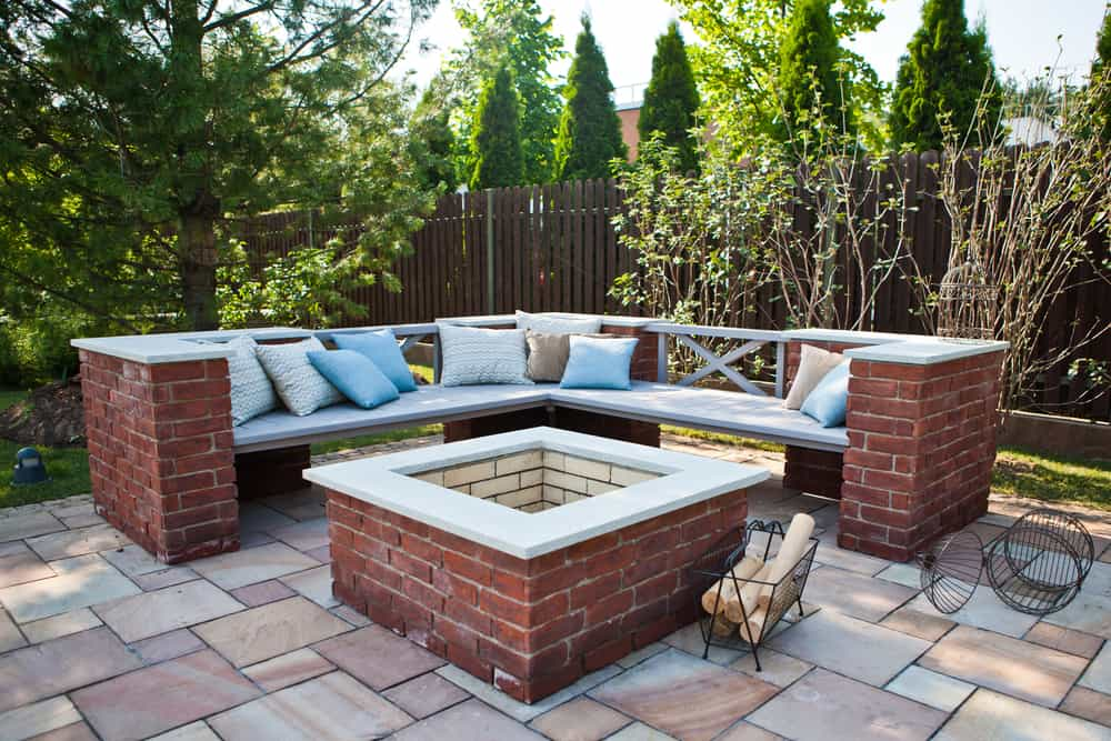 in-ground square firepit