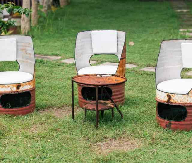 Diy Oil Drum Seats