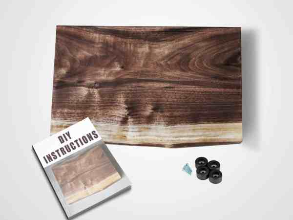 Everything you need to make a live edge cutting board. Pick up this kit today.