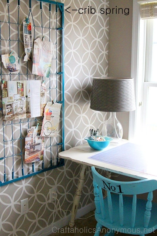 Crib Spring Inspiration Board - These furniture hacks will turn outdated and old furniture into treasured pieces. From little to no money you can have creative furniture statements throughout your home. thesawguy.com