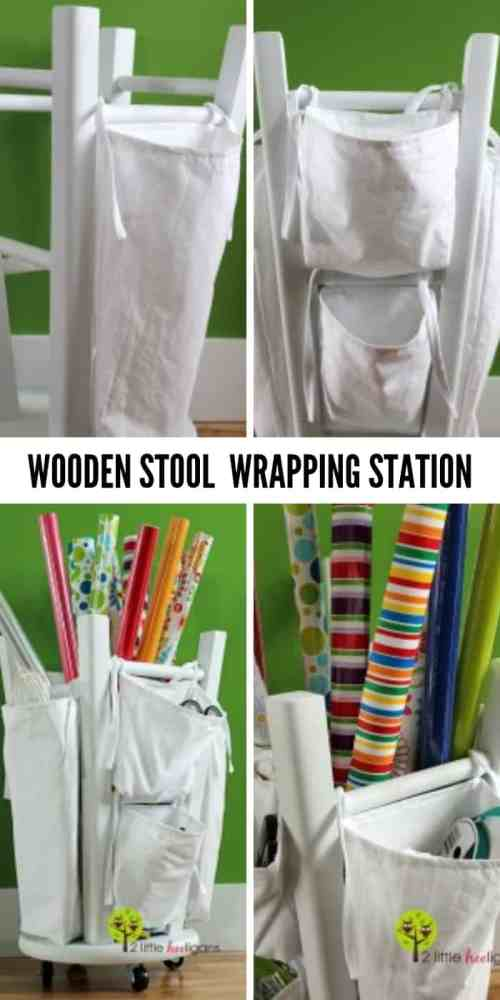 Quick hack to organize your wrapping station - These furniture hacks will turn outdated and old furniture into treasured pieces. From little to no money you can have creative furniture statements throughout your home. thesawguy.com