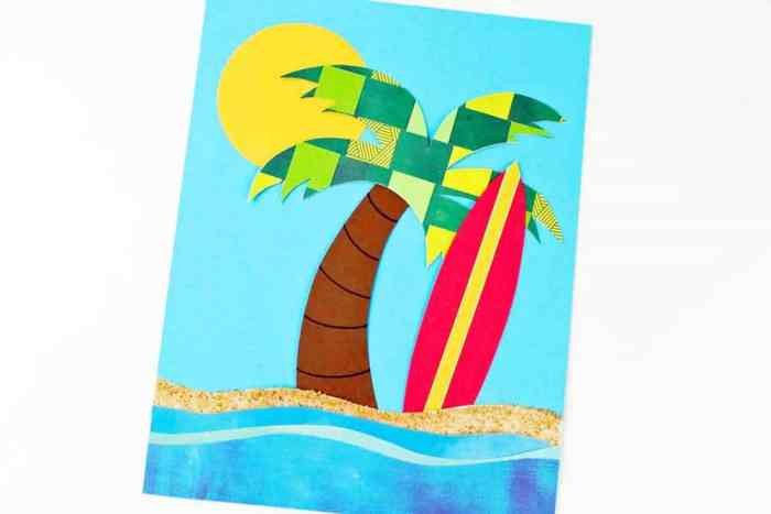 Summer Paper Weaving Craft For Kids You just need basic supplies like glue, scissors, paper, sand, and markers for this creative craft. Teach your child how to make a summer paper weave project while spending time together. Talk about a win all around! thesawguy.com