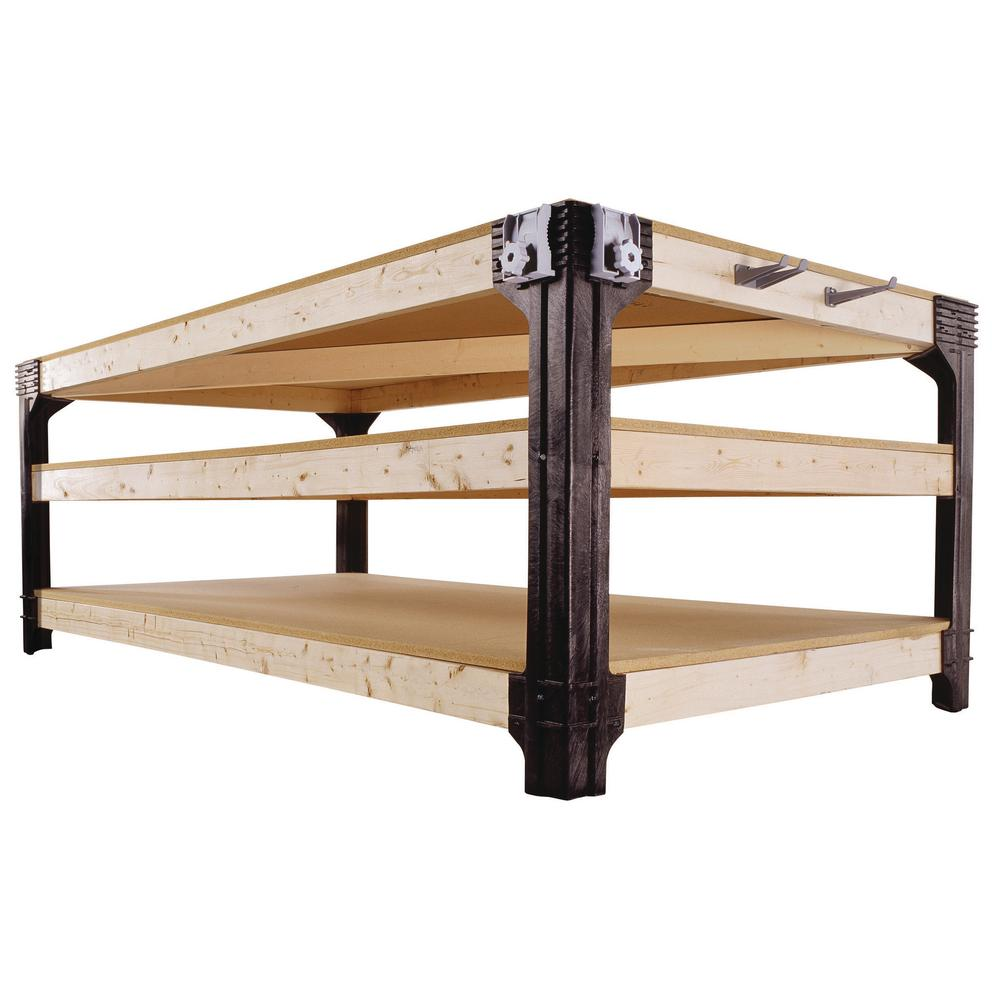 Make your own workbench with this kit. You get to decide how large or small you would like it. Easy to put together and sturdy. thesawguy.com