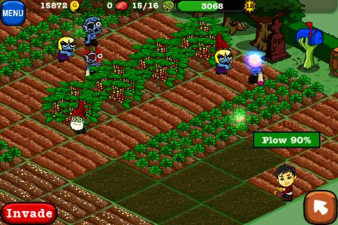 Plowing in Zombie Farm