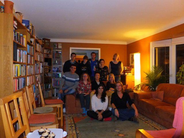 <span class='capsfont'><B class='capsB'>2012-2013:</B><br>(<I class='capsI'>Top, from left to right</I>) Charles Walewski, Erin Azzopardi, Jordan Robinson, Mahabba Smoka, Marei Typlt<br>(<I class='capsI'>Middle, from left to right</I>) Wellinghton de Medeiros Barros, Cleusa De Oliveira, Alvino Yang, Magdalena Mirkowsi<br>(<I class='capsI'>Bottom, from left to right</I>) Komal Shaikh, Susanne Schmid</span>