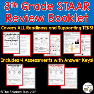 STAAR Review Booklet – 8th Grade Science