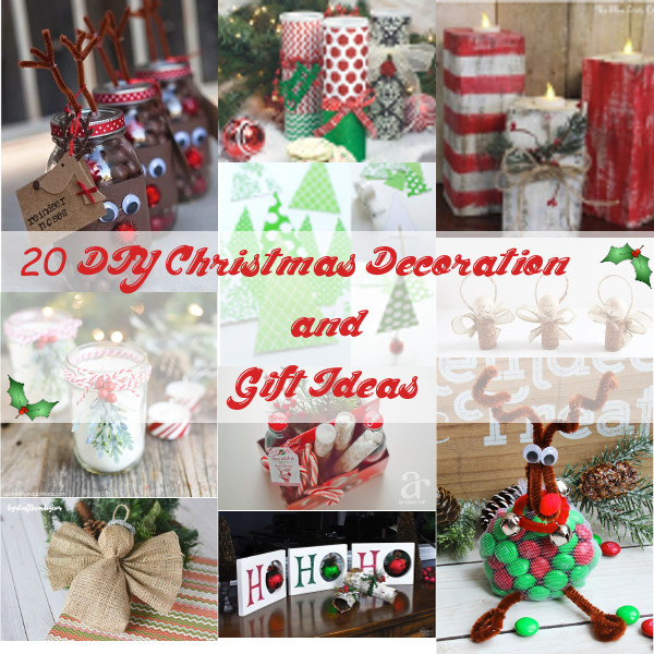 20 DIY Christmas Decoration & Gift Ideas – The Scoop for Mommies
