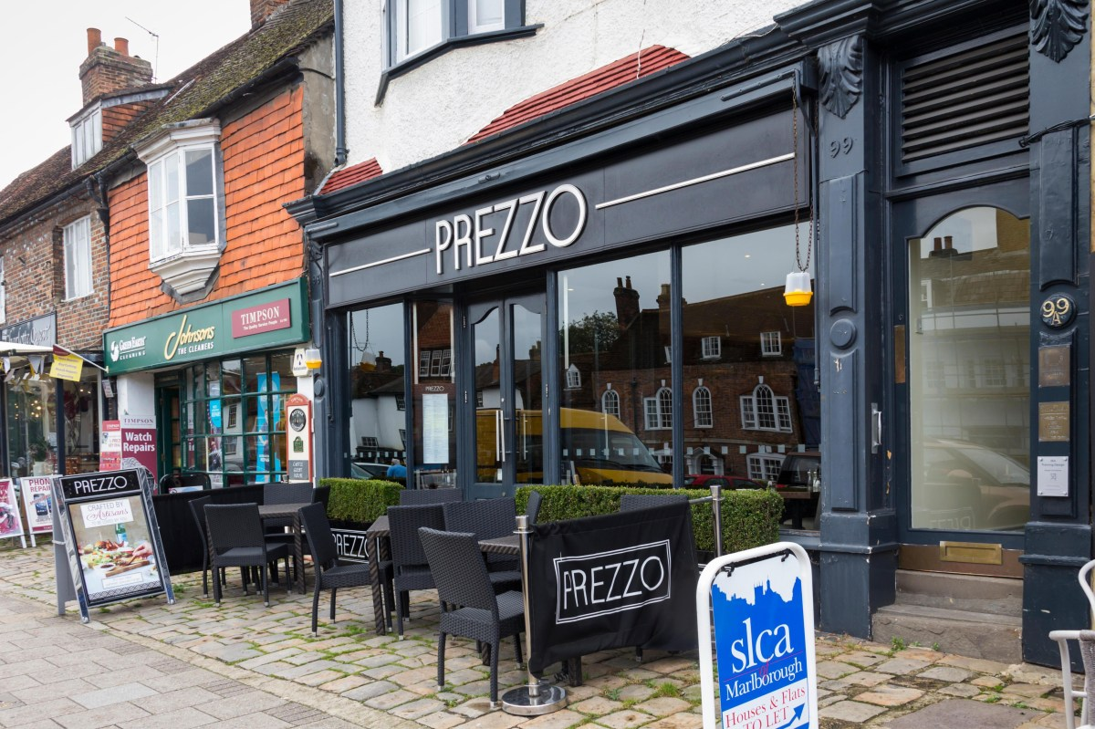 Which Prezzo restaurants are closing? Full list of UK ...