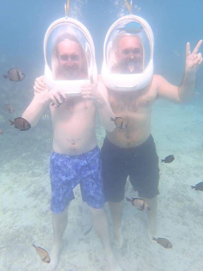 The couple traveled around the world together before being diagnosed with colorectal cancer at Jon Paul