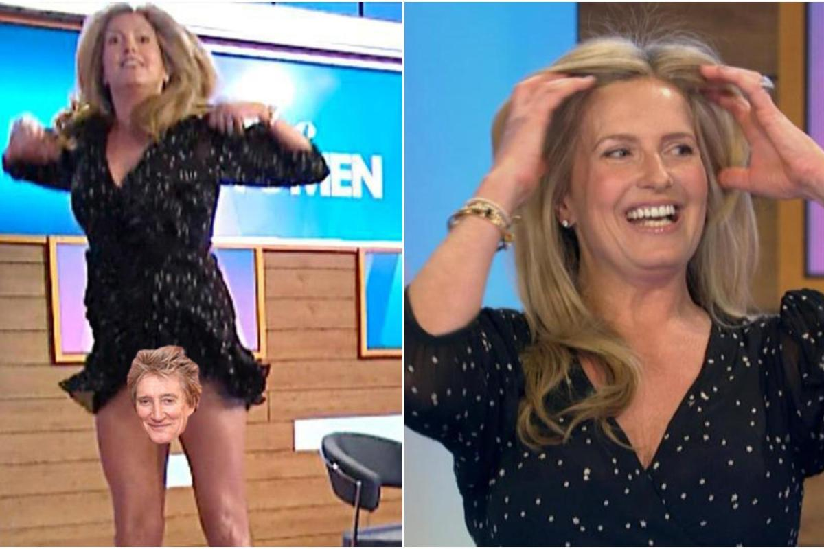 Rod Stewarts wife Penny Lancaster accidentally flashes on