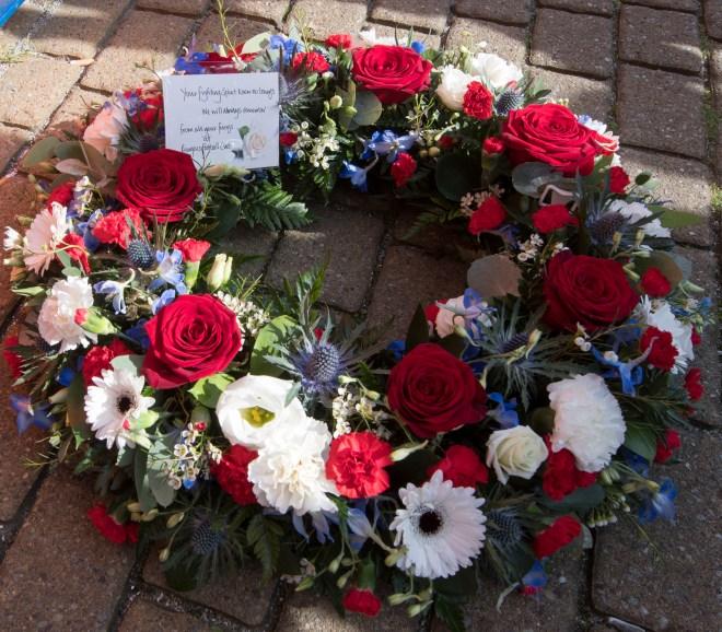 Wreath tribute to tragic Ibrox icon